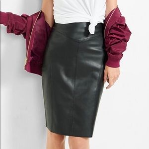 Express Faux Leather Pencil Skirt